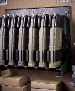 Rangement 3 Chargeurs AR – Mural & Coffre fort – Noir AR-15