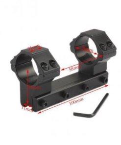 Montage monobloc lunette 25.4mm pour rail 11mm - BlackOpe