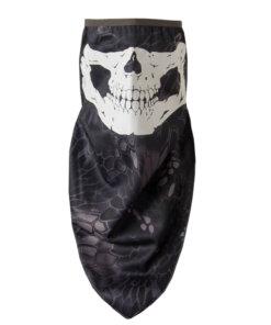 Câche cou – Tête de mort – Python black Cagoules & Caches-cou