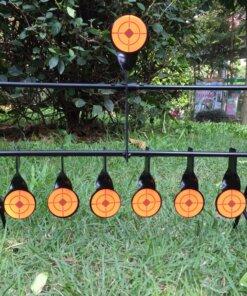 Cibles métallique Gong autoreset 22 cal et Air comprimé 7 postes 2.5mm Ciblerie