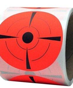 """250 Cible autocollant 3 """" ( 8cm ) FLUO Rouge Ciblerie"""