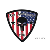 Patch – 2nd amendment – Drapeau Américain – Punisher – Skull Flag USA Écussons & patchs