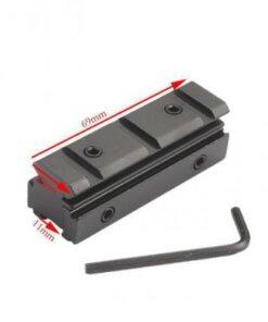 Adaptateur Convertisseur 11mm à 20mm Weaver picatinny Montages Optiques