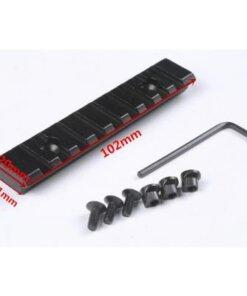 Rail picatinny / Weaver 102mm Montages Optiques