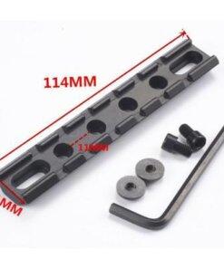 Rail picatinny / Weaver 114mm Montages Optiques