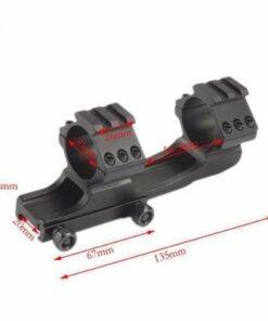 Montage monobloc Tactique Picatinny 20mm pour lunette Montage Monobloc