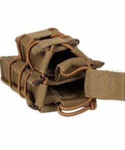 Sacoche Porte chargeur armes longue & arme de poing Tactique- Molle mod1 TAN Porte chargeur
