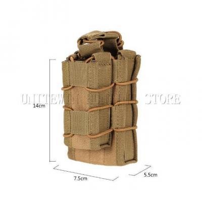 Sacoche Porte chargeur armes longue & arme de poing Tactique- Molle mod1 TAN Accessoires
