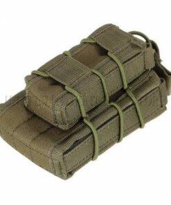 Sacoche Porte chargeur armes longue & arme de poing Tactique- Molle mod1 VERT Porte chargeur