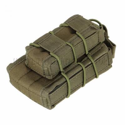 Sacoche Porte chargeur armes longue & arme de poing Tactique- Molle mod1 VERT Accessoires
