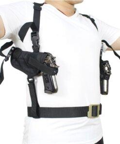 Double holster d'épaule – Arme de poings – Noir Accessoires