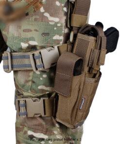 Holster Arme de poing – Tactique Militaire – mod2 – Gaucher Bagagerie