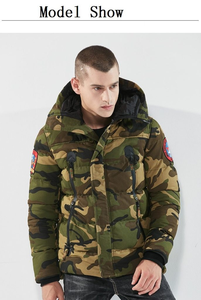 Blouson Parka Grand froid – Militaire et chasse – Army Green Camouflage Blouson & Veste