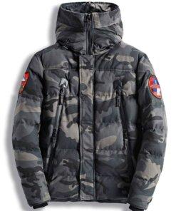 Blouson Parka Grand froid – Militaire et chasse – Kaki Camouflage Blouson