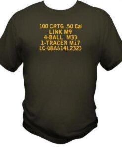 Tee-shirt - Caisse de munition - Calibre 50 - BlackOpe