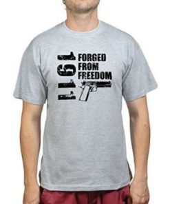 Tee-shirt - COLT 1911 - Forced from freedom - Gris - BlackOpe