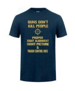 Tee-shirt - Gun's Don't kill people - Navy - BlackOpe