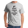 Tee-shirt Keep Calm and Double Tap - Gray & black - BlackOpe