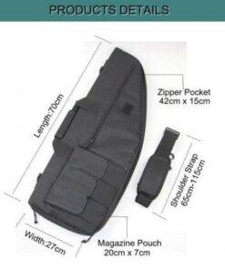 Housse à fusil tactique 70cm NOIR Accessoires
