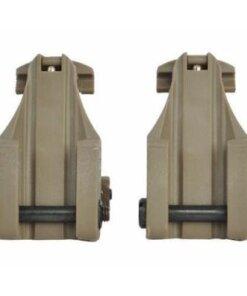 Organes de visée rabatable pour rail Picatinny / Weaver Mod2.1 rail 20mm SABLE Optiques & Montages