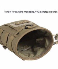 Dump pouch – Sacoche Porte chargeur armes longue Tactique- Molle – mod4 – Vert Porte chargeur