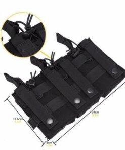 Sacoche Porte chargeur armes longue Tactique- Molle – mod3 – Noir Porte chargeur