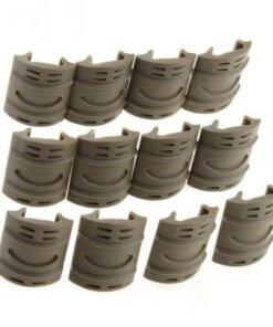 Protection et couvre Rails Picatinny / weaver 12 pièces TAN Montages Optiques