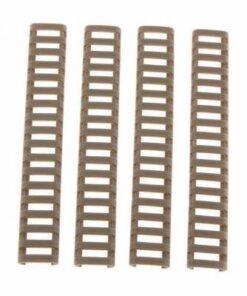 Protection et couvre Rails Picatinny / Weaver 4 pièces TAN - BlackOpe