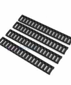Protection et couvre Rails Picatinny / Weaver NOIR 4 pièces Montages Optiques