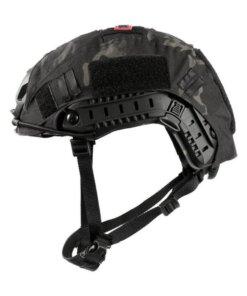 Casque tactique - Airsoft - Onetigris - mod13 - Noir avec couverture de casque - BlackOpe