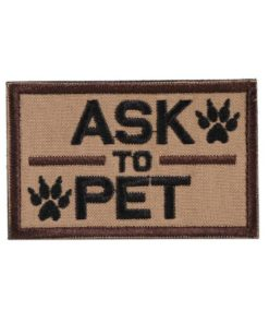 Patch Ecusson - ask to pet - onetigris - BlackOpe