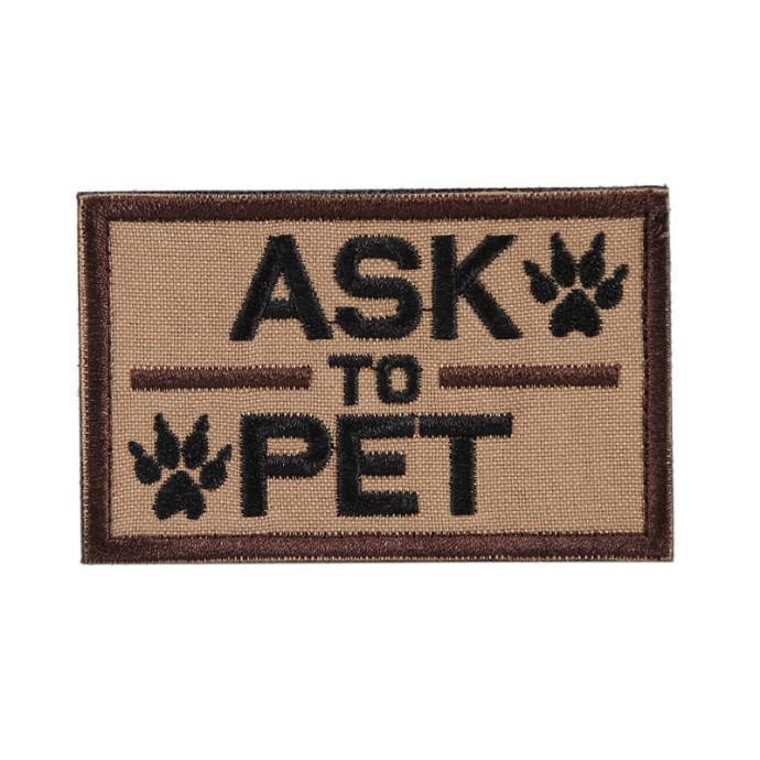 Patch Ecusson - ask to pet - onetigris - BlackOpe