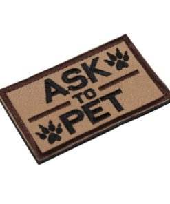 Patch Ecusson – ask to pet – onetigris Écussons & patchs