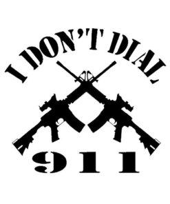 Autocollant – i'dont dial 911 – Noir Décorations