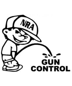 Autocollant – NRA Gun Control – Noir Divers