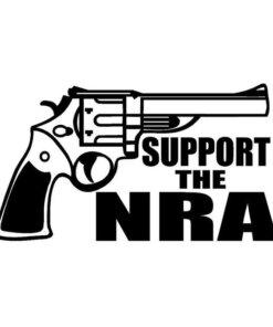 Autocollant – Support NRA – Noir Divers