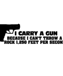 Autocollant – I'm a carry Gun – Noir Décorations