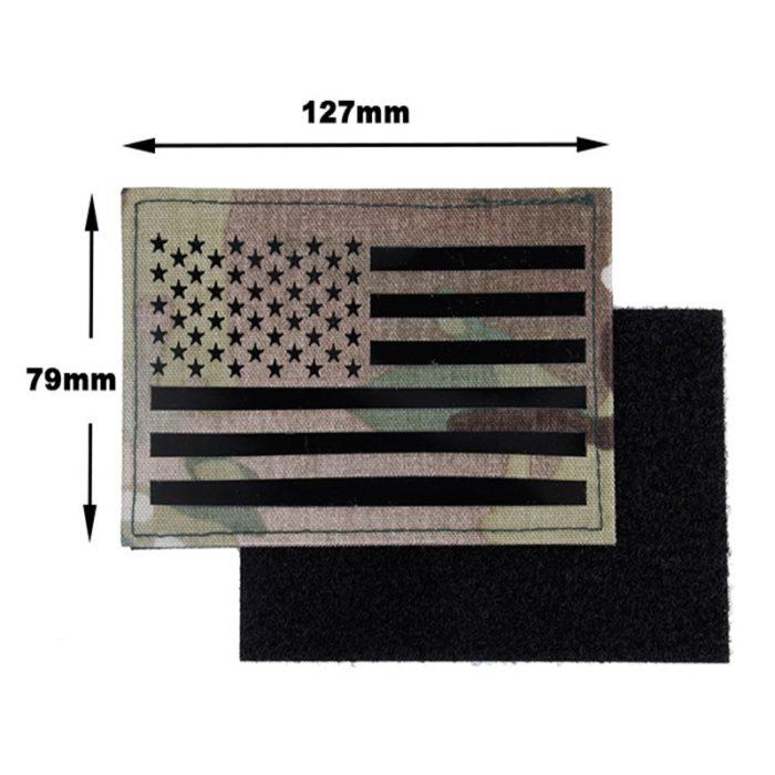 Patch & Ecusson – Militaire – EG – Drapeau Américain – mod 2 – Multicam Écussons & patchs
