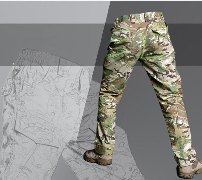 Pantalon – Militaire Tactique – EG – mod5 – Multicam Pantalons