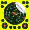 25 Cibles autocollante réactive – 5.5 pouces Cibles Autocollante