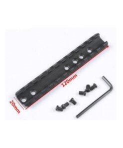 Rail picatinny / Weaver 120mm Montages Optiques